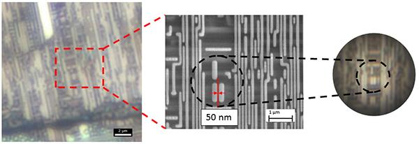 明視野観察(100倍oil対物レンズ)、SEM、NANORO(SMAL)